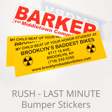 Last Minute Bumper Stickers