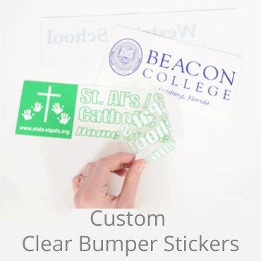 Clear Bumper Stickers
