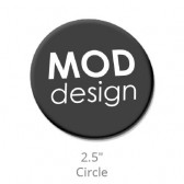 "Domed Decals with Permanent Adhesive - 2.5"" Circle"