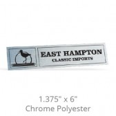 """1.375"""" x 6"""" Chrome Polyester Car-Cal Decals"""