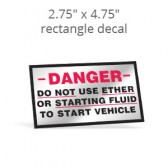 "2.75"" x 4.75"" Custom Print Rectangle Decal"