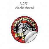 "3.25"" Custom Circle Decal Stickers"