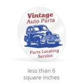 Static Cling Custom Shape Decals - Less Than 6 Square Inches