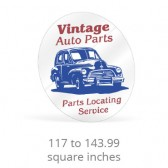 Static Cling Custom Shape Decals - 117 to 143.99 Square Inches