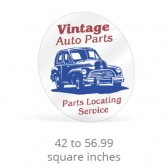 Static Cling Custom Shape Decals - 42  to 56.99 Square Inches