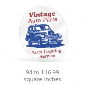 Static Cling Custom Shape Decals - 94 to 116.99 Square Inches