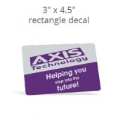 "3"" x 4.5"" Custom Print Rectangle Decal"
