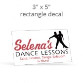 "3"" x 5"" Custom Print Rectangle Decal"