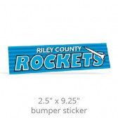 "2.5"" x 9.25"" Custom Bumper Stickers"