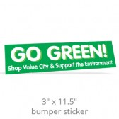"3"" x 11.5"" Custom Bumper Stickers"