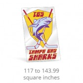 Clear Polyester Square Corner Custom Decals - 117 to 143.99 Square Inches