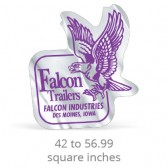 Chrome Polyester Custom Shape Decals - 42 to 56.99 Square Inches