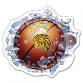 Shattered Glass Basketball Window Decal