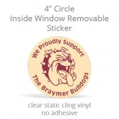 "Inside Window Removable Sticker - 4"" Circle Static Cling"