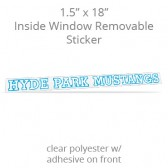 "Inside Window Removable Sticker - 1.5"" x 18"" Rectangle Clear Polyester"