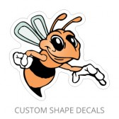 Ultra Removable White Vinyl Custom Shaped Decals - Less Than 6 Square Inches