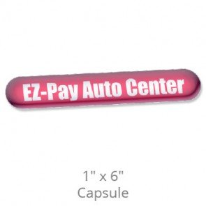 """Domed Decals with Permanent Adhesive - 1"""" x 6"""" Capsule"""