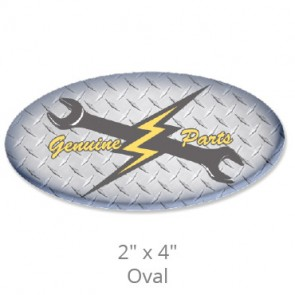 """Domed Decals with Permanent Adhesive - 2"""" x 4"""" Oval"""