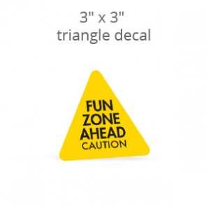 "3"" x 3"" Custom Triangle Shaped Decal & Stickers"