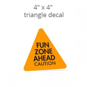 "4"" x 4"" Custom Print Triangle Decal"