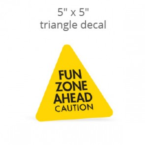 "5"" x 5"" Custom Print Triangle Decal"