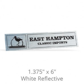 "1.375"" x 6"" White Reflective Car-Cal Decals"
