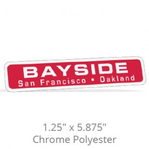 "1.25"" x 5.875"" Chrome Polyester Car-Cal Decals"