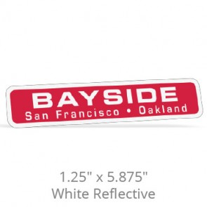 "1.25"" x 5.875"" White Reflective Car-Cal Decals"