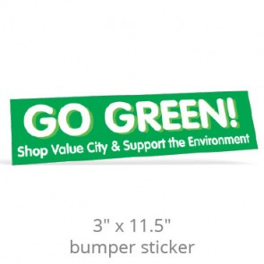 "3"" x 11.5"" Removable Bumper Stickers - Screen Printed"