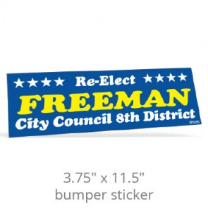 "3.75"" x 11.5"" Removable Bumper Stickers - Screen Printed"