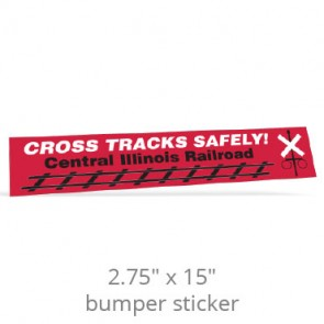 "2.75"" x 15"" Removable Bumper Stickers - Screen Printed"