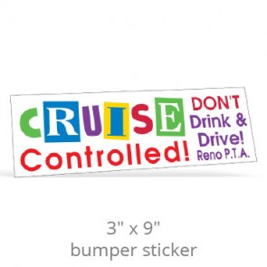 "3"" x 9"" Removable Bumper Stickers - Screen Printed"
