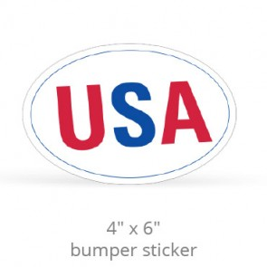 "4"" x 6"" Oval Removable Bumper Stickers - Screen Printed"