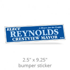 "2.5"" x 9.25"" One Day Bumper Stickers"