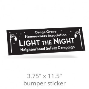 "3.75"" x 11.5"" One Day Removable Bumper Stickers -"