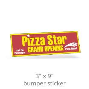 "3"" x 9"" One Day Bumper Stickers"