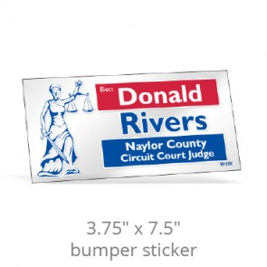 """3.75"""" x 7.5"""" Clear Rectangle Bumper Stickers"""