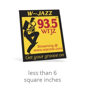 Yellow Vinyl Square Corner Custom Decals - Less than 6 Square Inches