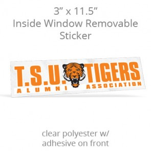 "Inside Window Removable Sticker - 3"" x 11.5"" Rectangle Clear Polyester"