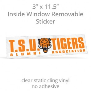 "Inside Window Removable Sticker - 3"" x 11.5"" Rectangle Static Cling"