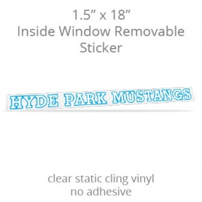 "Inside Window Removable Sticker - 1.5"" x 18"" Rectangle Static Cling"