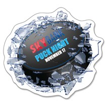 Shattered Glass Hockey Window Decal