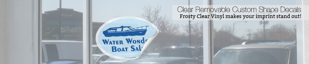 Clear Removable Custom Shape Decals At CustomDecalscom - Custom boat decals easy removal