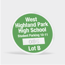 Custom Parking Permit Sticker Decals