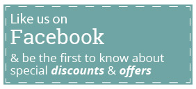 Like us on Facebook for discounts and special offers!